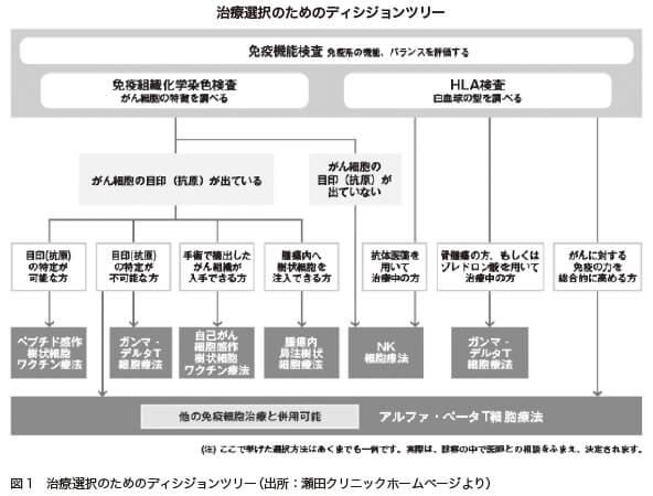 図1 治療選択のためのディシジョンツリー(出所:瀬田クリニックホームページより)