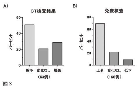 図3 CT検査結果、免疫検査