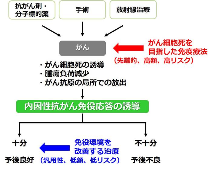 図2 がん治療における免疫療法の位置づけ